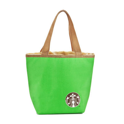 Wholesale 420D Promotional Canvas Cooler Food Tote Bag With Drawstring closure