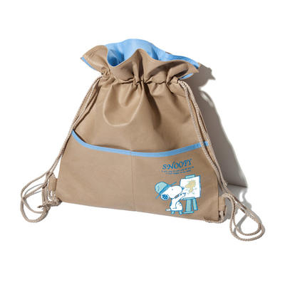 Non Woven Drawstring  Polypropylene Backpack Bag with front pocket
