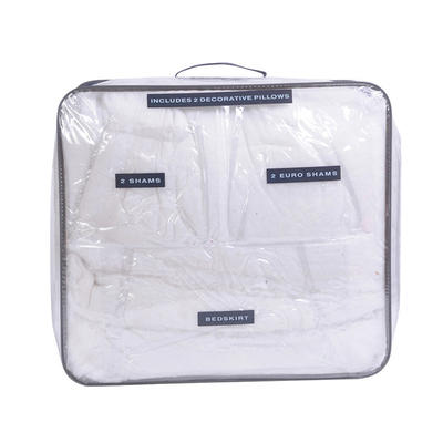 Custom Wholesale Large Clear Plastic Bag Quilt Packaging Sorage Bags With Zipper